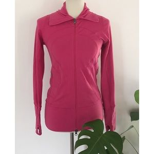 Lululemon Hot Pink Stretch Full Zip Stride Jacket